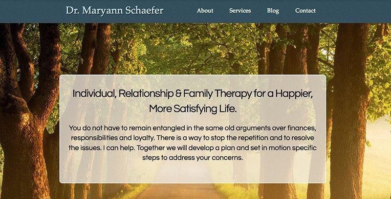 Psychotherapist Web Design