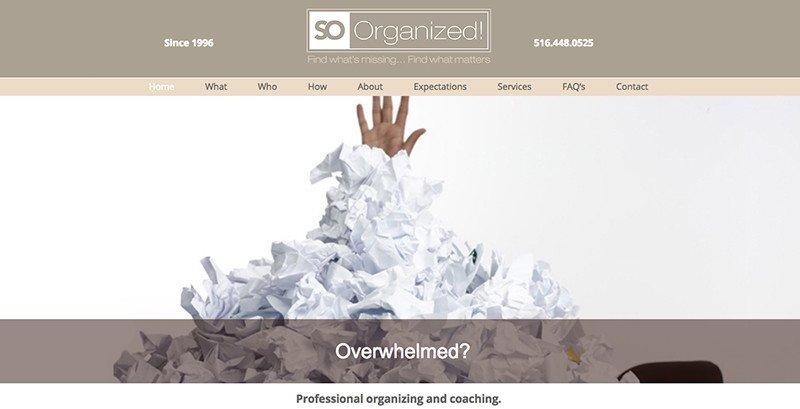 Organizer Web Design