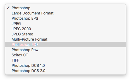 photoshop pdf