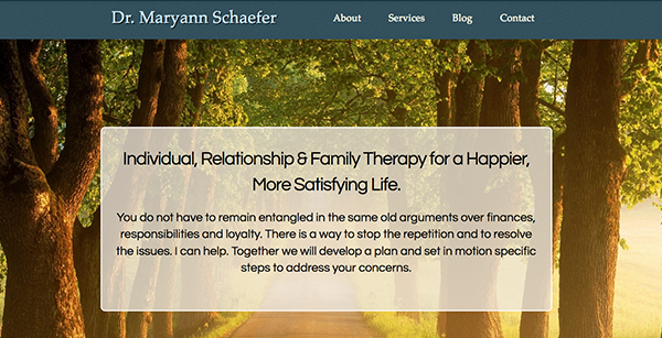 Psychotherapist Web Design