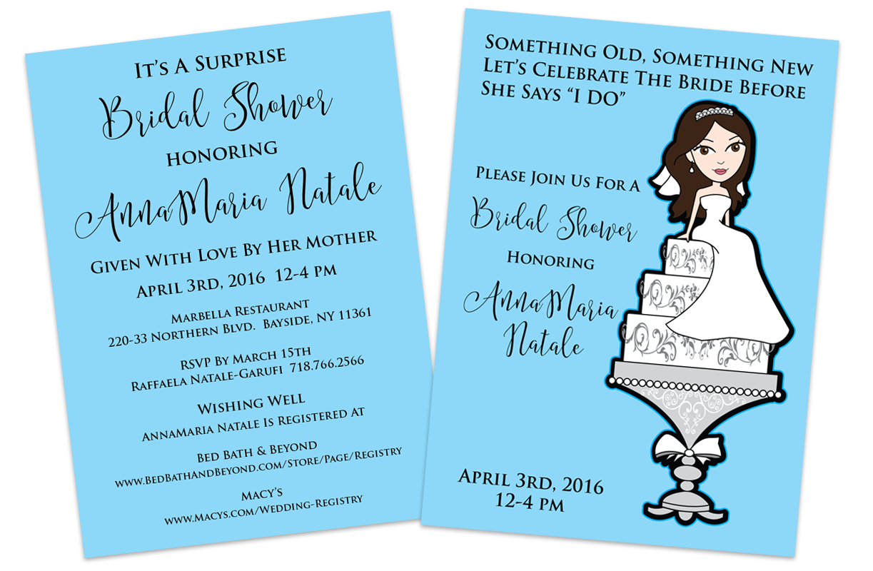 Bridal Shower Cartoon Invite