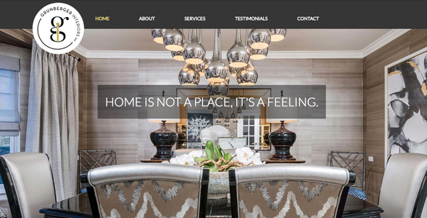 Grunberger Interiors Web Design