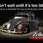Zelko Auto Postcard Design