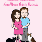 Baby Shower Cartoon Invite Design