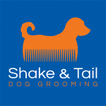 Shake & Tail Dog Grooming Logo