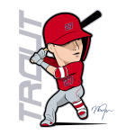 Mike Trout Cartoon Design