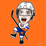Barzal Cartoon Character
