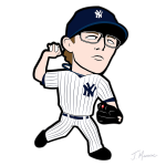 Tyler Clippard Yankees Cartoon