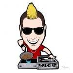 DJ Chef Cartoon Character