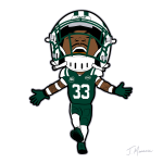 Jamal Adams Jets Cartoon Character
