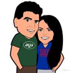 Jets Giants Cartoon Characters