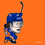 Mat Barzal Islanders Cartoon