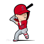 Mike Trout Cartoon
