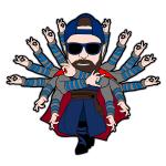 Miles Strange Cartoon Character