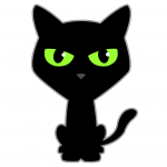 Black Cat Cartoon Character