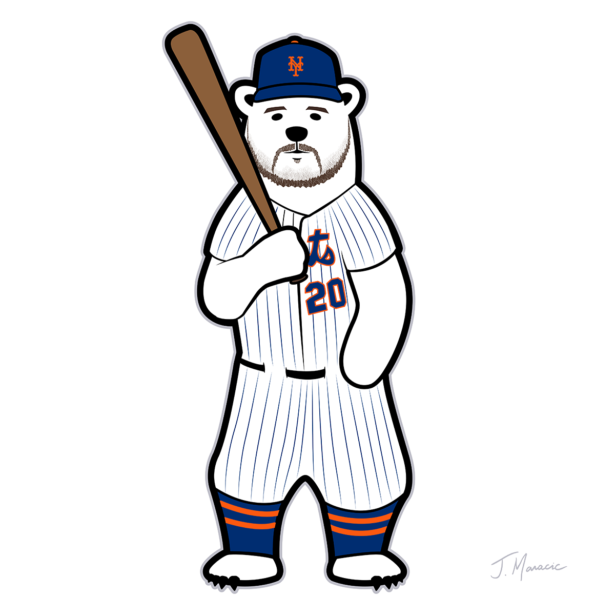pete alonso polar bear cartoon