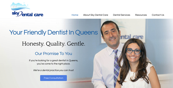Sky Dental Care Website