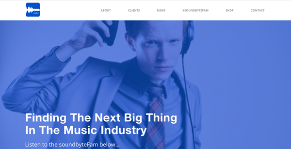Soundbyte Website