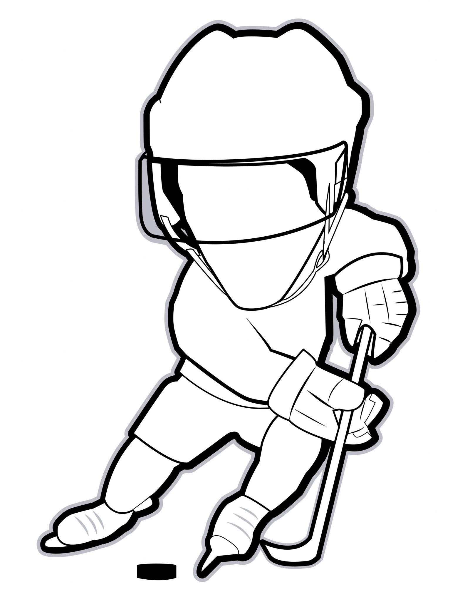 Hockey Player Coloring Book