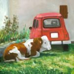 Cow And Car Painting