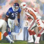 Carl Banks Football Painting