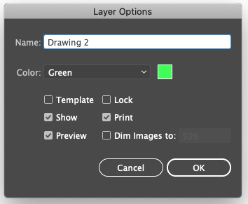 Layer Options Drawing 2