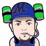 Mets Fan Mike Cartoon Character