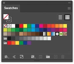 Swatches Palette Adobe Illustrator