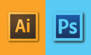 adobe Illustrator or photoshop