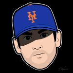 Matt Harvey Mets Cartoon