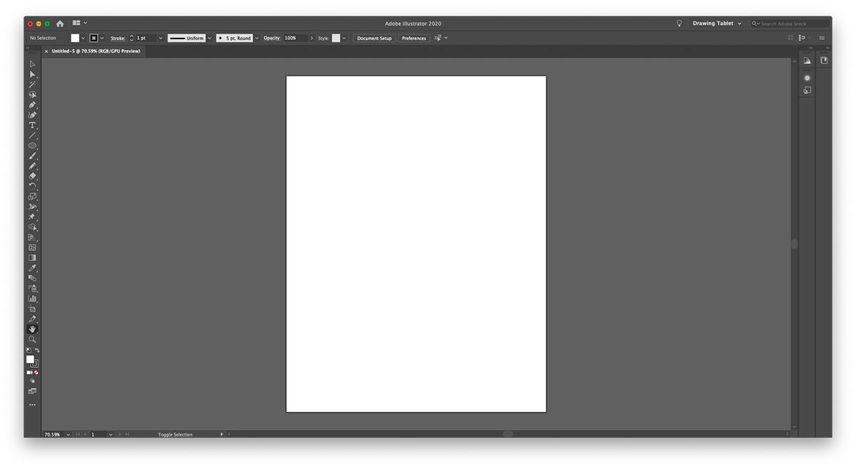 Adobe Illustrator New Document