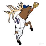 Silky Elk Conforto Mets Cartoon