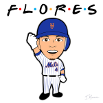 Wilmer Flores Mets Cartoon