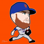 Zack Wheeler Mets Cartoon